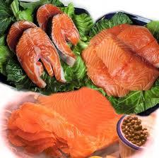 Menù di pesce: salmone, seppia, razza