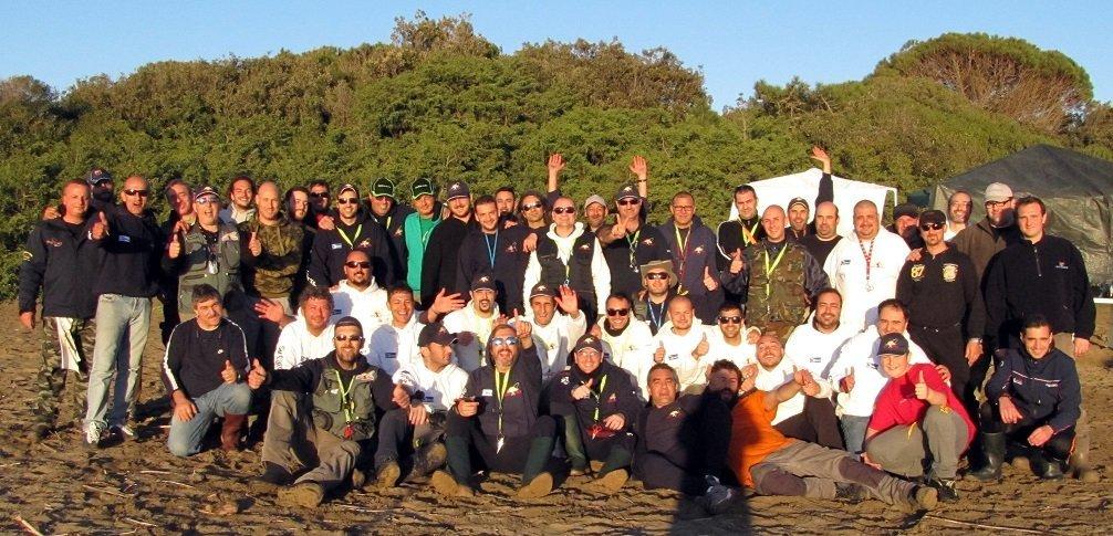 foto di gruppo Quelli della pesca Roma